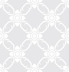 Thai floral pattern backdrop vector image