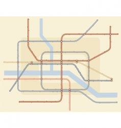 underground map vector image vector image
