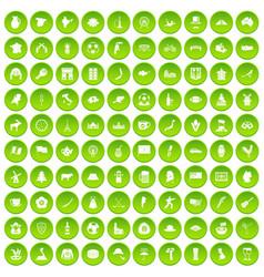 100 map icons set green circle vector