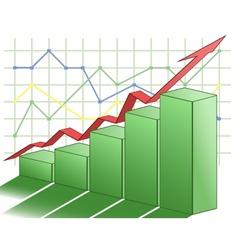3d business graph vector