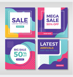 Abstract sale banners for social media vol1 vector
