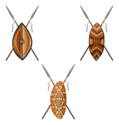 african-shields-02 vector image