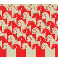 Asian waves pattern vector image