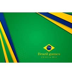 background in Brazilian colors vector image