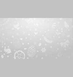 background of easter symbols vector image