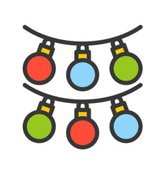 Bauble or christmas ornament christmas related vector