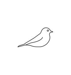 bird line icon black on white vector image
