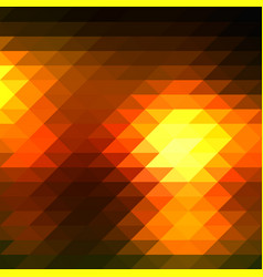 Black orange yellow rows of triangles background vector