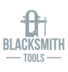 blacksmith tool logo simple gray style vector image