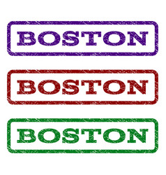 boston watermark stamp vector image