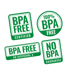 bpa free bisphenol-a and phthalates badge stamp vector image