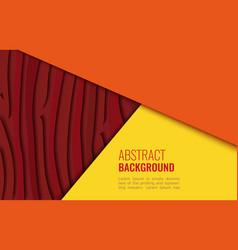 Bright yellow and orange horizontal abstract vector