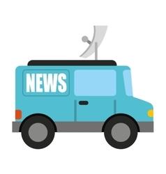 Car news isolated icon design vector