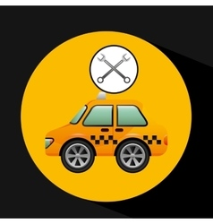 Car taxi tools repair icon design vector
