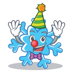 clown snowflake character cartoon style vector image