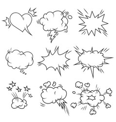 Comic bubbles set vector