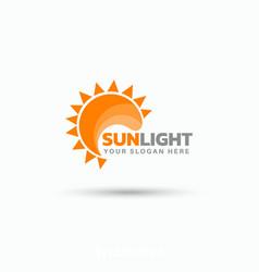 Creative sun logo design - art vector