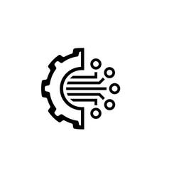 Crypto technology icon vector