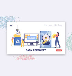 Data recovery service backup and protection vector