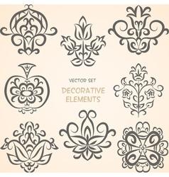 Decorative ethnic elements vector image