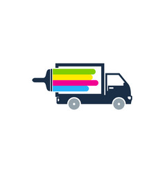 delivery paint logo icon design vector image
