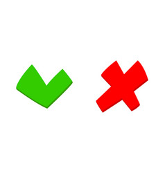 do and dont check ticket choice option green red vector image