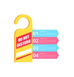 do not disturb hotel sign vector image