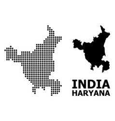 Dot pattern map haryana state vector