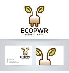 Eco energy logo design vector