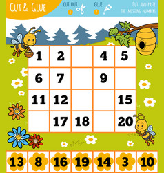 education numbers game for children summer theme vector image