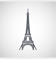 eiffel tower logo icon design vector image