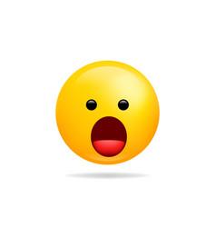 emoji smile icon symbol speechless face yellow vector image