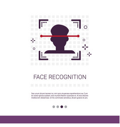 face recognition system biometric identification vector image