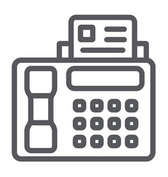 Fax line icon print and device printer sign vector