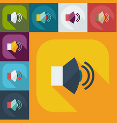 Flat modern design with shadow icons sound vector
