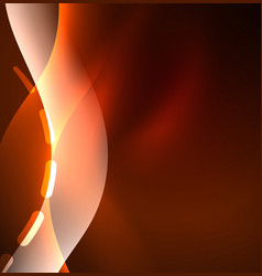 glowing wave smoke design wavy lines vector image