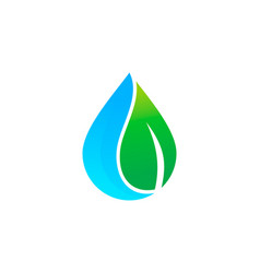 green water logo icon design vector image