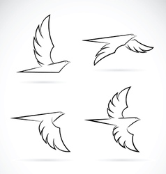 Group of an eagle design vector image