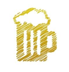 handwriting beer picture vector image