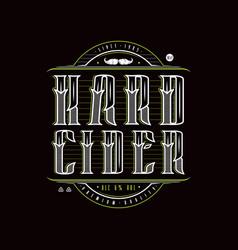 Hard cider logo in vintage style vector