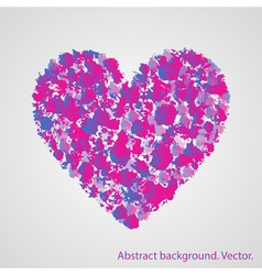 heart with a pattern on a light background vector image