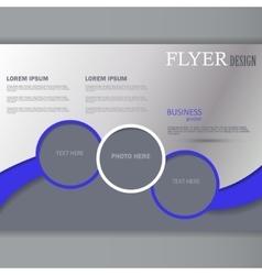Horizontal flyer template vector