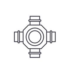 Hub line icon concept hub linear vector