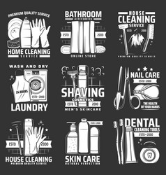 Hygiene body and skin care icons vector