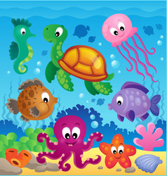 image with undersea theme 7 vector image