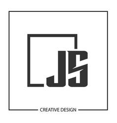 Initial letter js logo template design vector