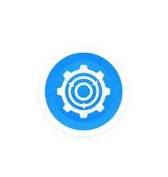 Integration gear and arrows icon vector