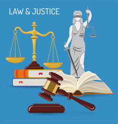 law and justice concept vector image