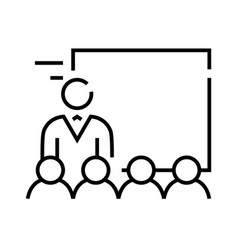 Lecture line icon concept sign outline vector