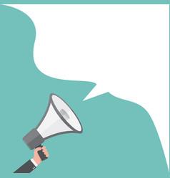 loudspeaker or megaphone vector image